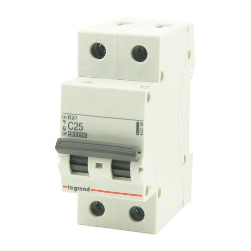 Disjoncteur modulaire 2P 25A Legrand gris