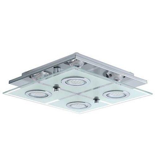 Plafonnier LED Eglo 'Cisano' carré 4x35W