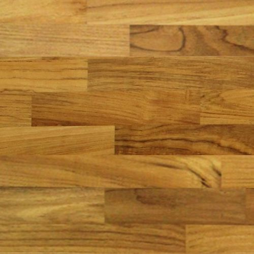 Parquet massif DecoMode teck naturel huilé 15mm