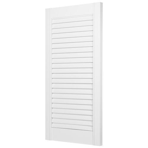 JéWé louvredeur grenen gegrond wit 38x76cm