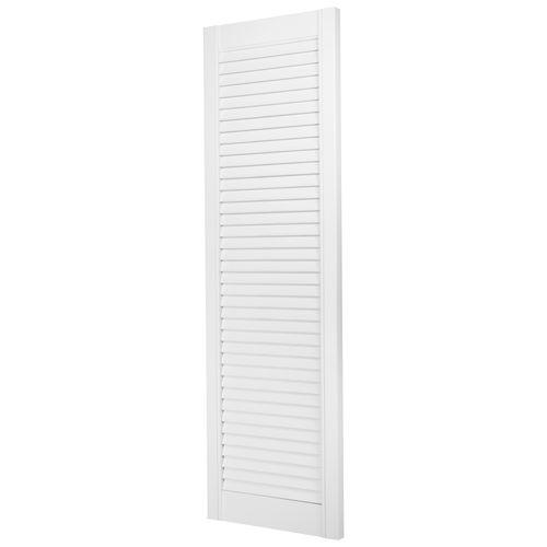 JéWé louvredeur grenen gegrond wit 38x122cm