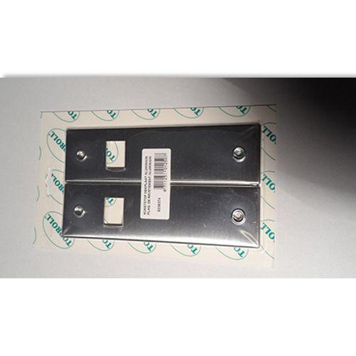 Plaque pour enrouleur encastré Packline aluminium - 2 pcs