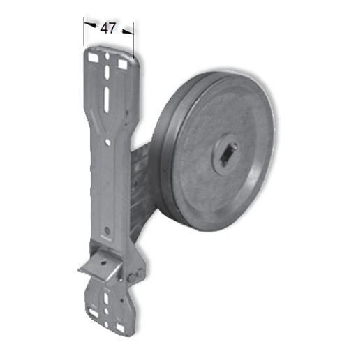 Packline lintoproller inbouw met afdekplaat PVC 22 mm