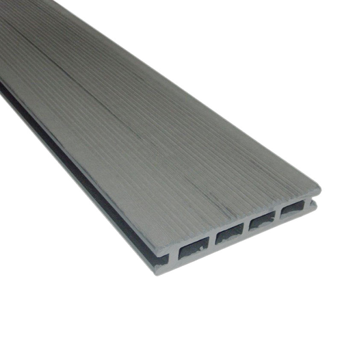 Planche de terrasse en WPC gris 225 x 14 cm