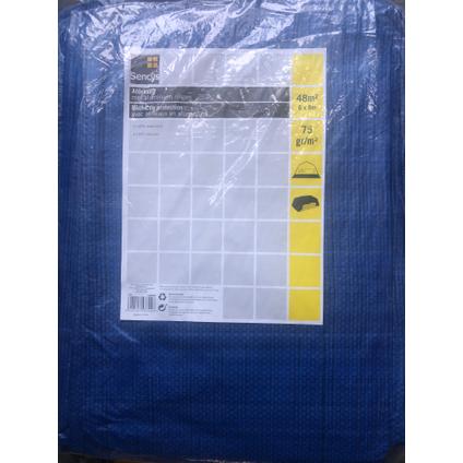 Sencys dekzeil PE 6 x 8 m 75 gr/m²