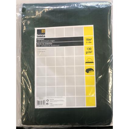 Sencys dekzeil PE 2 x 8 m 130 gr/m²