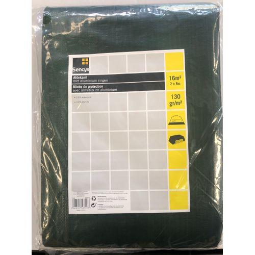 Sencys dekzeil PE 2x8m 130 gr/m²