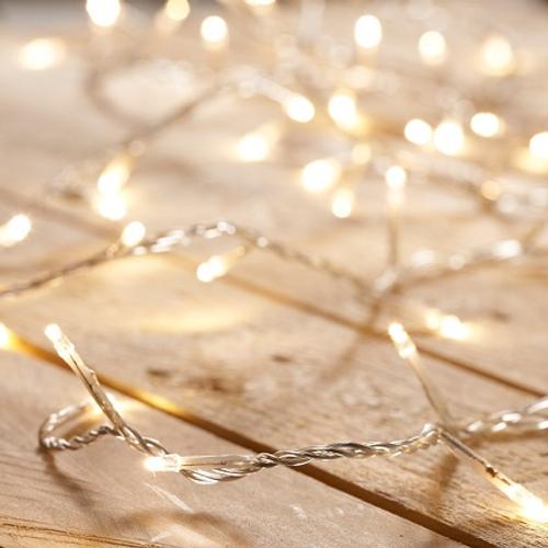 Guirlande électrique pour intérieur Central Park blanc chaud - 100 lampes