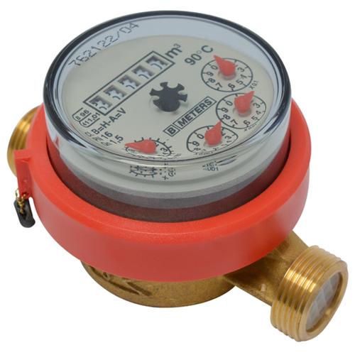 """Watermeter 3/4"""" warm water"""