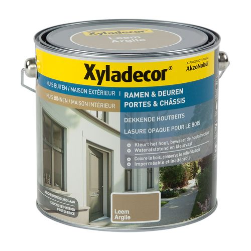 Lasure portes et chassis Xyladecor opaque argile 2,5L