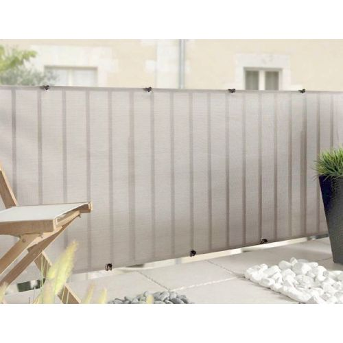Brise-vue Nortene Everly gris 1x5m
