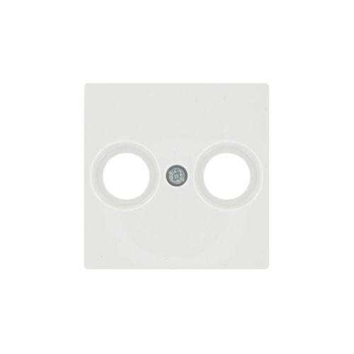 Schneider afdekplaat System-M TV/FM wit