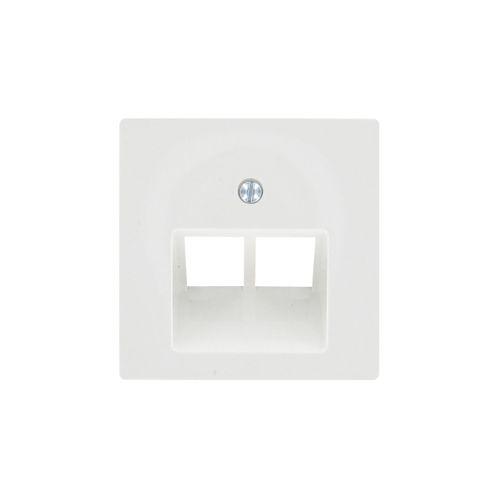 Schneider afdekplaat System-M UAE/UTP wit