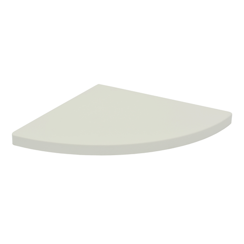 Duraline wandplank hoek afgerond 'CSRXS2' wit warm 1,8 x 30 x 30 cm