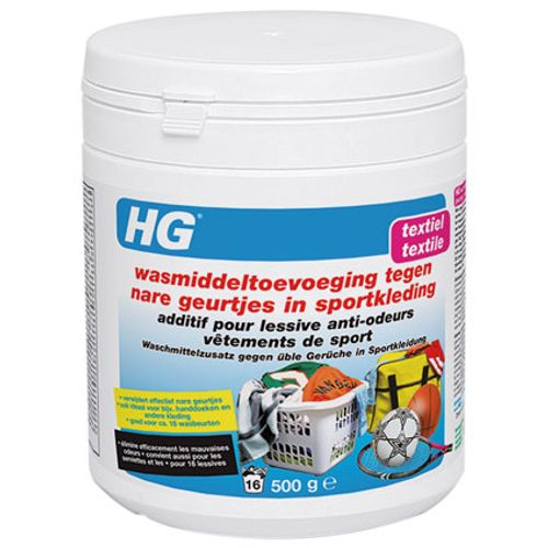 HG wasmiddeltoevoeging tegen nare geurtjes in sportkleding 500 gr