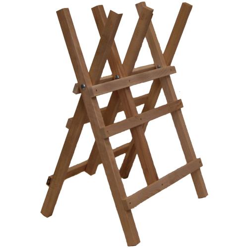 Zaagschraag 3 steunen hout 94 x 63 cm