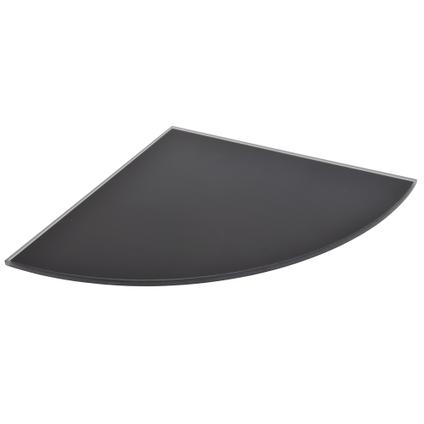 Etagère murale verre Duraline '4XS' noir 25 x 25 cm x 6 mm
