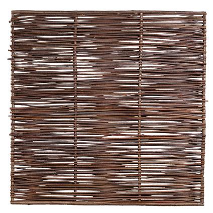 Tuinscherm recht hazelaar bruin 180 x 180 cm