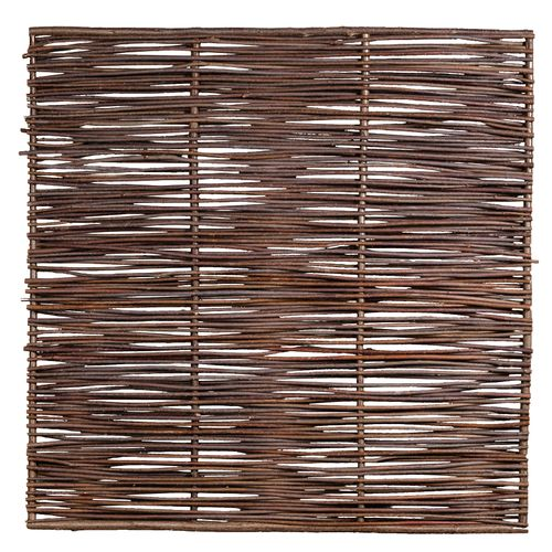 Ecran de jardin droit noisetier brun 180 x 180 cm