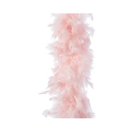 Kerstslinger veren roze 1,84m