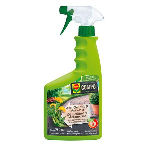 Compo onkruidbestrijder spray 'Anti-Onkruid & Anti-Mos' 750 ml