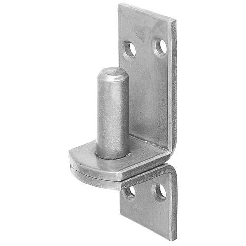 Gond sur platine acier inoxydable 115 mm Ø 16 mm