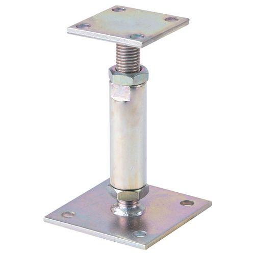 Ancre pour poteau réglable acier galvanisé 70 x 70 mm