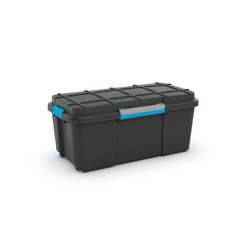Boîte de rangement à roues Kis 'Scuba L' noir/bleu