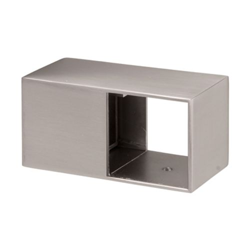 Support de rampe d'escalier JéWé 'London Bridge' aspect inox brossé - 2 pcs