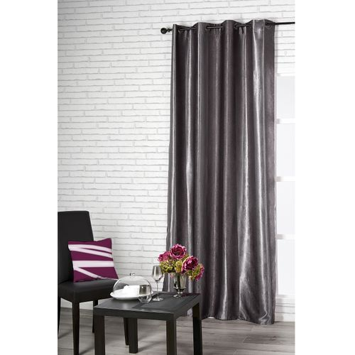 Rideau obsurcissant 'Cosy' polyester gris 140 x 260 cm