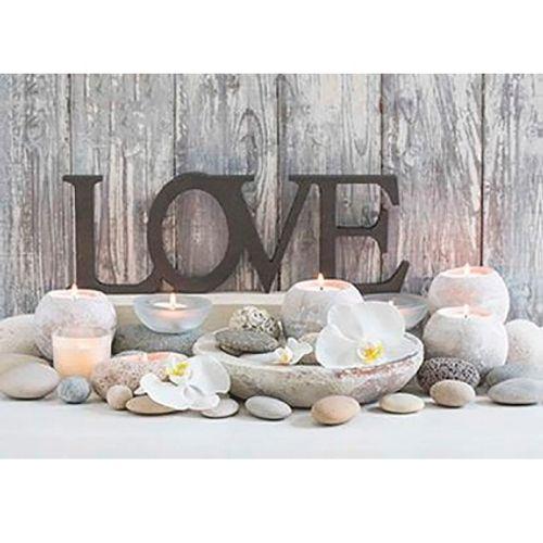 Canvas met LED's 'Love'