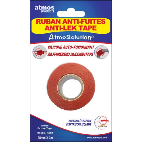 Atmos tape 'Extrem' rood 25 mm x 3 m