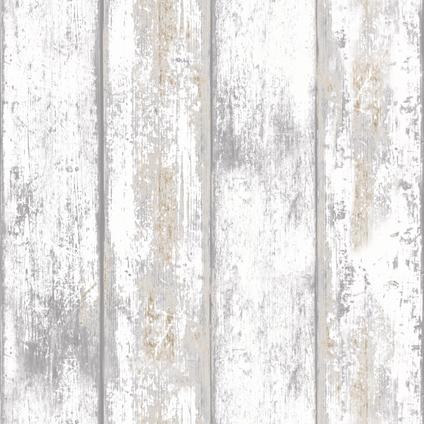 Papier peint intissé Decomode bois blanc