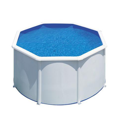 Gre zwembad Fidji rond staal wit Ø260x122cm