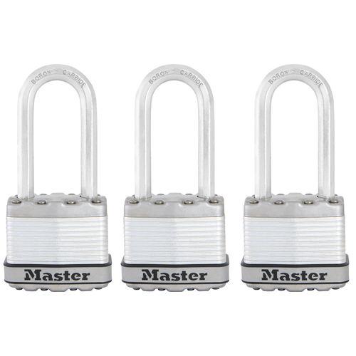 Master Lock hangslot 'Excell' staal 45 mm - 3 stuks