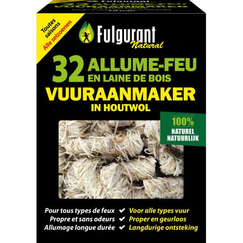 Fulgurant vuuraanmaker 'Ecologisch' - 32 stuks