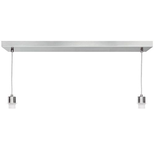 Suspension Home Sweet Home 'Beam' chrome 2x60W