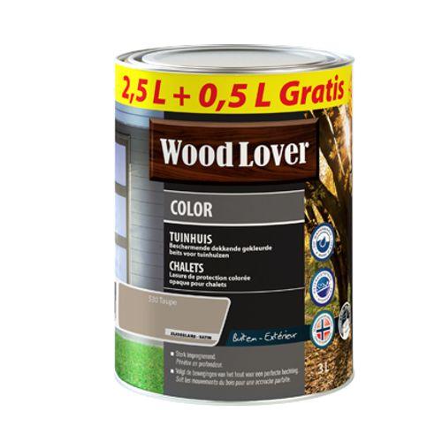 Lasure Wood Lover 'Color Chalet' taupe 3L