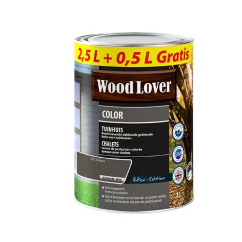 Lasure Wood Lover 'Color Chalet' grison 3L