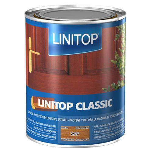 Lasure bois Linitop 'Classic Acryl' 298 merisier - 1L