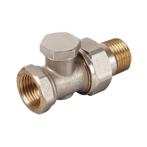 """Plieger radiator voetventiel met afsluitbare koppeling recht 1/2""""bix1/2""""bu"""