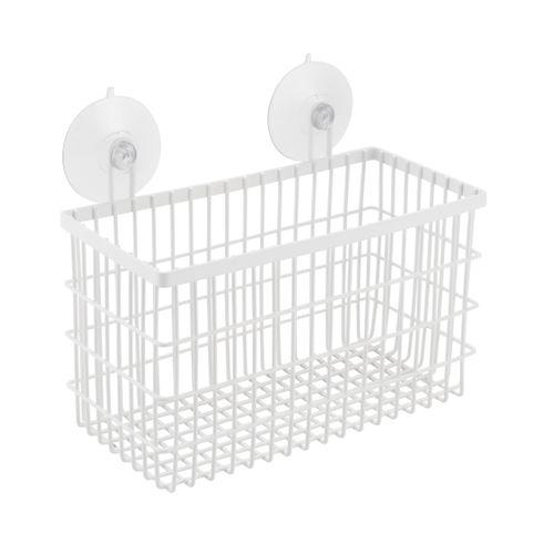 Panier de douche AquaVive rectangulaire blanc
