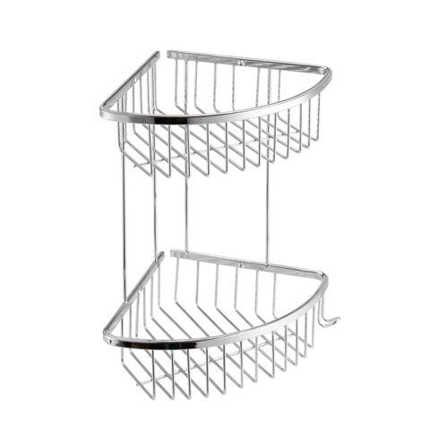 AquaVive draadmand driehoek tweelaags chroom
