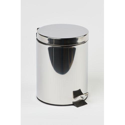 Poubelle à pédale AquaVive métal chromé 5 L