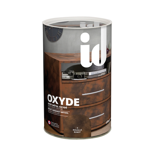 Kit peinture ID Oxyde métal oxydé: Oxyde Base 400 ml + Oxyde Finition 200 ml