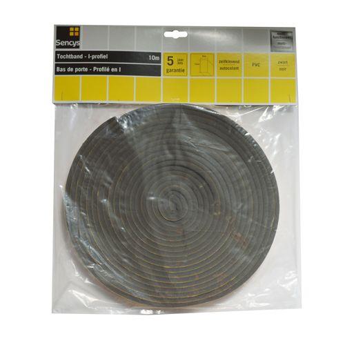 Bas de porte Sencys PVC noir 10m