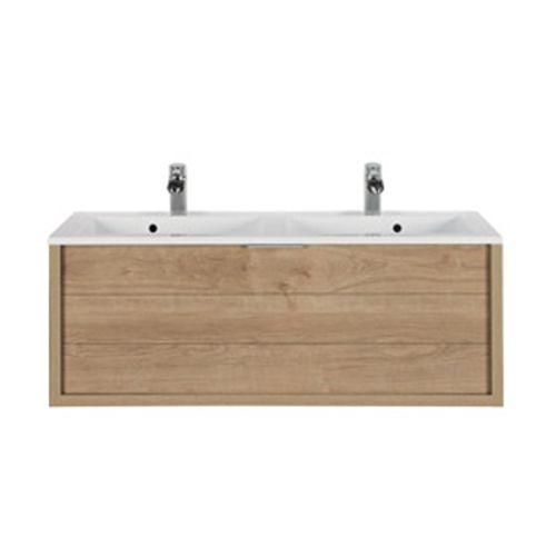 Meuble sous-lavabo Allibert 'Trentino' chêne 120 cm