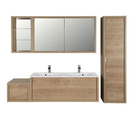 Armoire de toilette Allibert 'Trentino' 2 portes 120 cm