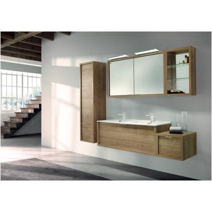 Meuble sous-lavabo module Allibert 'Trentino' chêne 40 cm