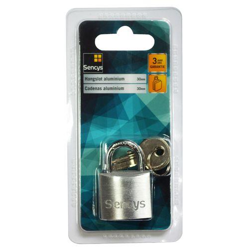 Sencys hangslot aluminium 30 mm